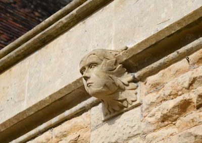 Clockspire stone detail